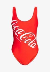 LADIES COCA COLA LOGO SWIMSUIT - Swimsuit - red
