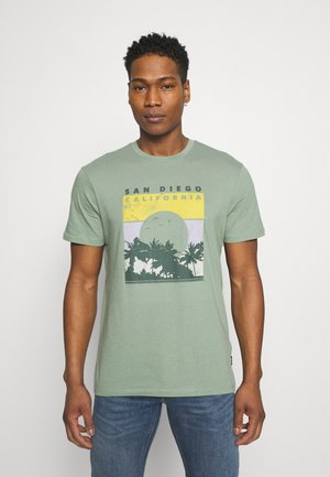 ONSANTHONY LIFE TEE - Camiseta estampada - hedge green