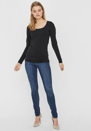 2PACK - Long sleeved top - black