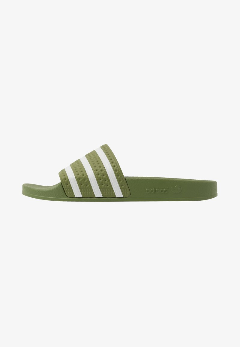 adidas Originals - ADILETTE - Pantofle - forest green/super color