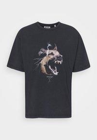 WRSTBHVR - RABIES - T-shirt med print - black washed - 5