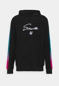 SIKSILK - OVERHEAD LOOP BACK FADE HOODIE - Sweatshirt - black/tri neon - 3