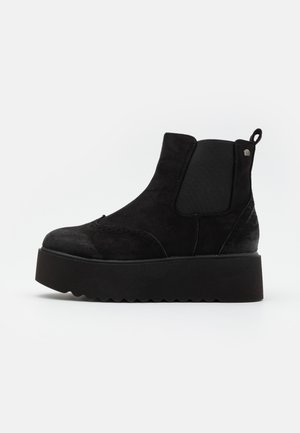 HIGH SCHOOL - Platform ankle boots - black