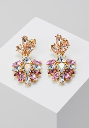 PCBEL EARRINGS - Náušnice - gold-coloured/pink