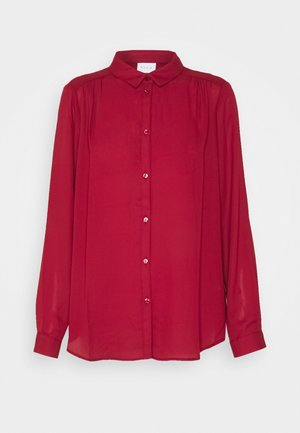 VILUCY BUTTON - Button-down blouse - red dahlia