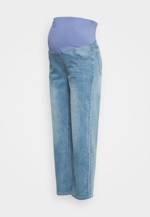 MATERNITY STRETCH STRAIGHT OVER BELLY - Straight leg jeans - blue