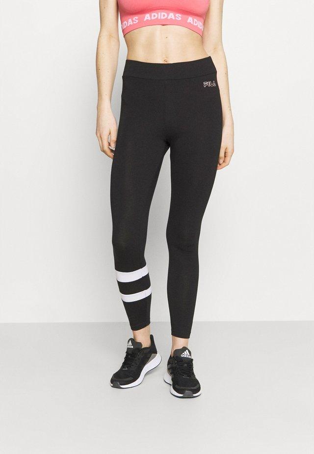 JACY 7/8 - Leggings - black/bright white