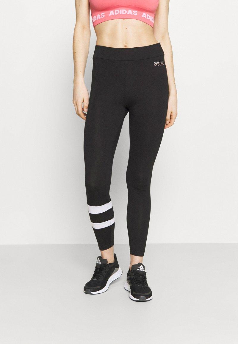 Fila - JACY 7/8 - Leggings - black/bright white