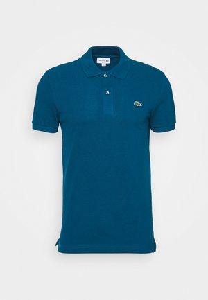 Polo shirt - raffia matting