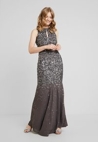 Maya Deluxe - KEYHOLE FRONT ALL OVER EMBELLISHED FISHTAILDRESS - Occasion wear - charcoal - 2