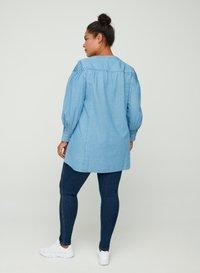 Zizzi - Button-down blouse - blue - 2
