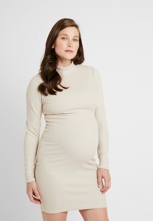 MINI DRESS - Shift dress - beige