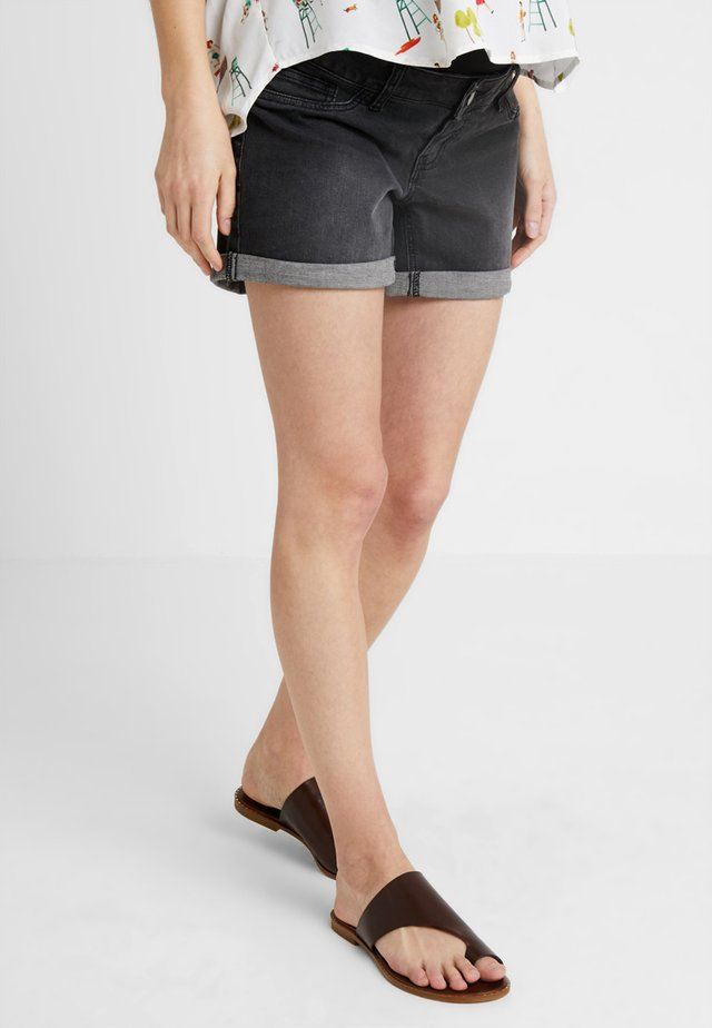 ROLL UP - Shorts di jeans - washed black