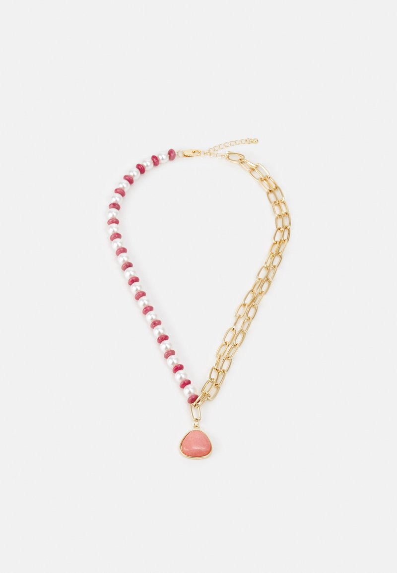 Pieces - PCLYNG HALF COMBI NECKLACE - Necklace - gold-coloured