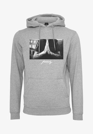 PRAY - Bluza z kapturem - heather grey