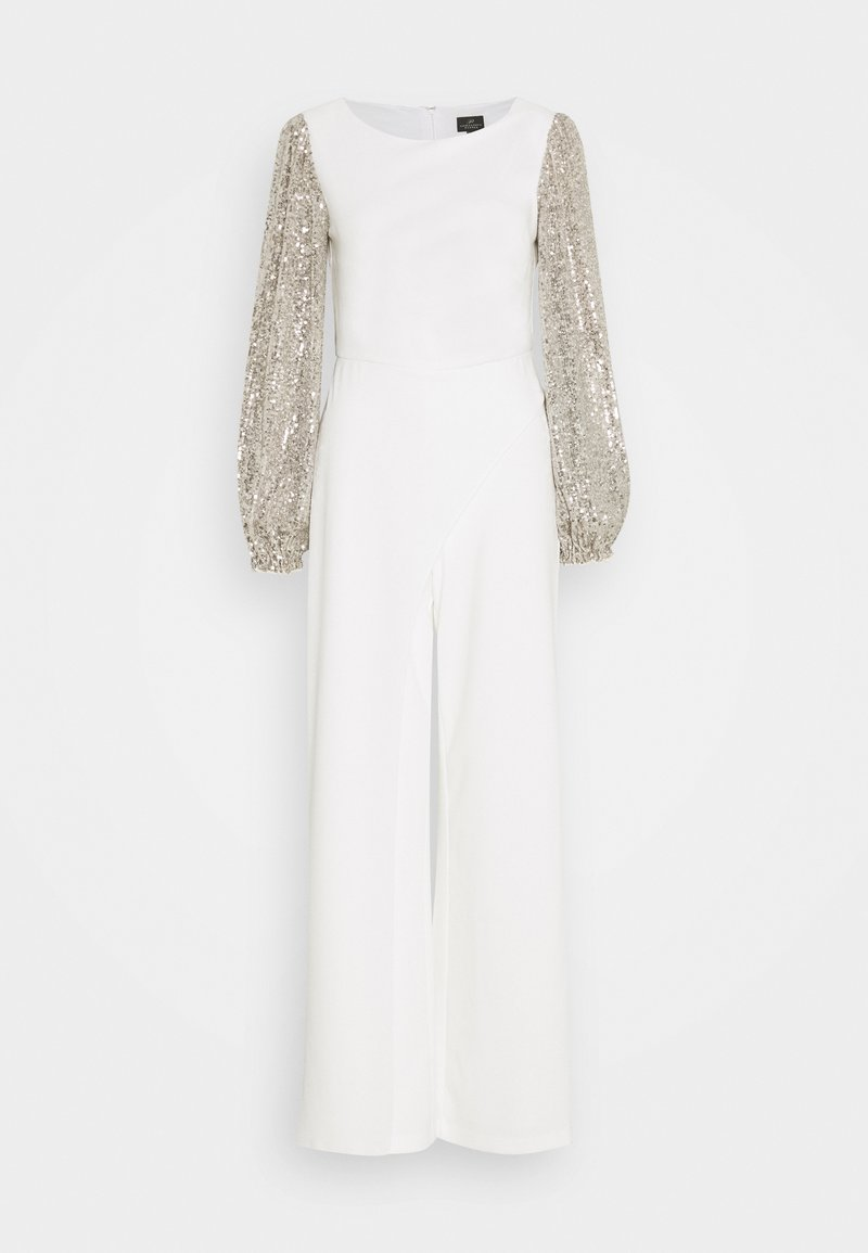 Adrianna Papell - SEQUIN UNCREPE JUMPSUIT - Jumpsuit - silver stroke ivory