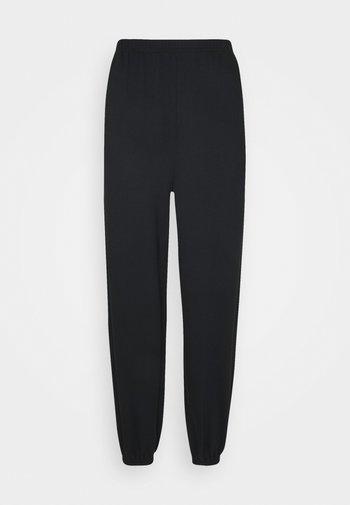 Loose fit tracksuit bottoms - Träningsbyxor - black
