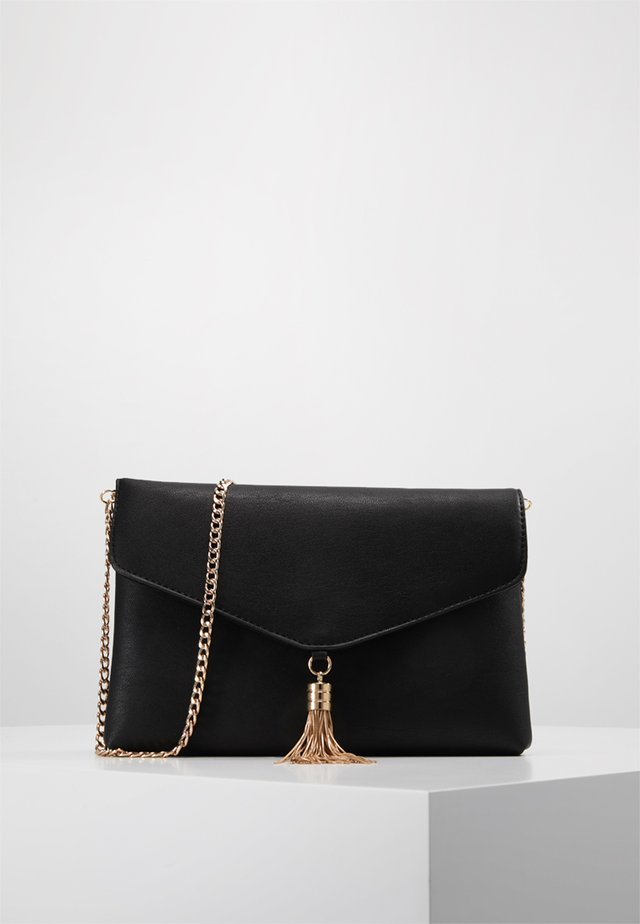 BRIDGETTE FOLDOVER TASSEL - Clutch - black