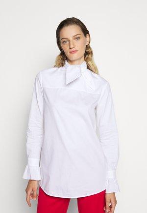 NECK TIE  - Button-down blouse - white