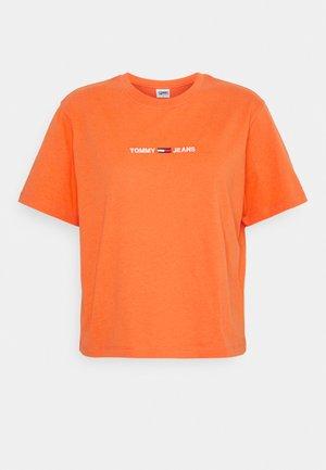 LINEAR LOGO TEE - Triko spotiskem - washed orange
