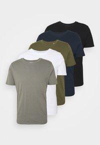 JJEORGANIC BASIC TEE O-NECK 5 PACK - Basic T-shirt - black