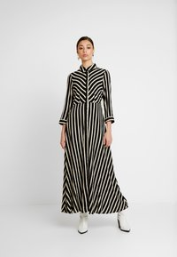 YAS - YASSAVANNA LONG DRESS NEW - Maxi dress - black/creme brulee - 0