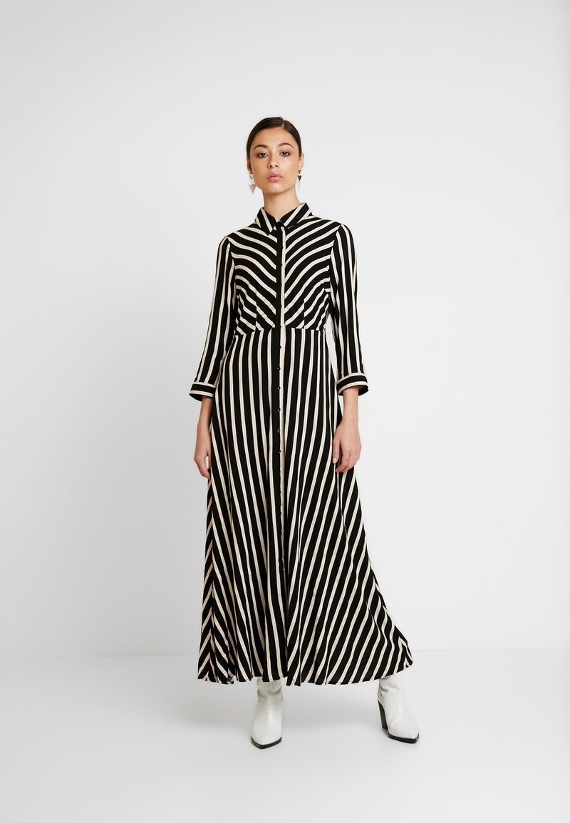 YAS - YASSAVANNA LONG DRESS NEW - Maxi dress - black/creme brulee