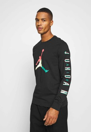 CREW - Long sleeved top - black/hot punch/barely volt