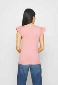 NAF NAF - MANGLAISE - T-shirt basique - rose des sables - 3