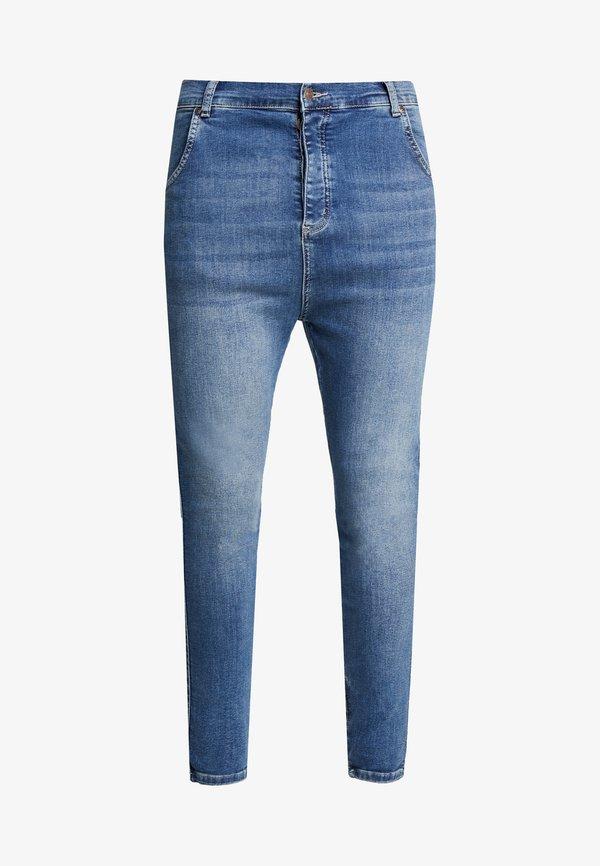 SIKSILK Spodnie materiałowe - midstone blue/niebieski Odzież Męska GXWI