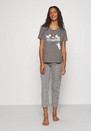 SHORT SLEEVES LONG PANT 101 DALMATIANS - Pyjamas - dark melange