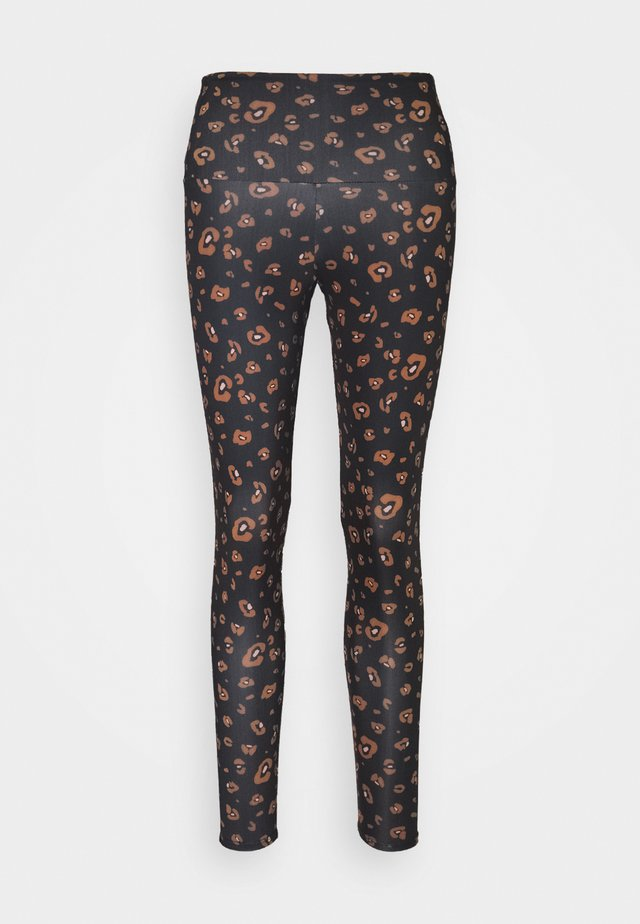 HIGH BASIC MIDI - Leggings - black