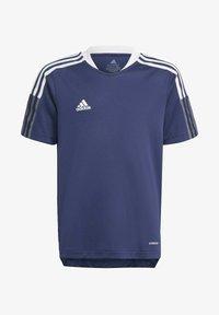 adidas Performance - TIRO 21 TRAINING JERSEY - Print T-shirt - blue - 0