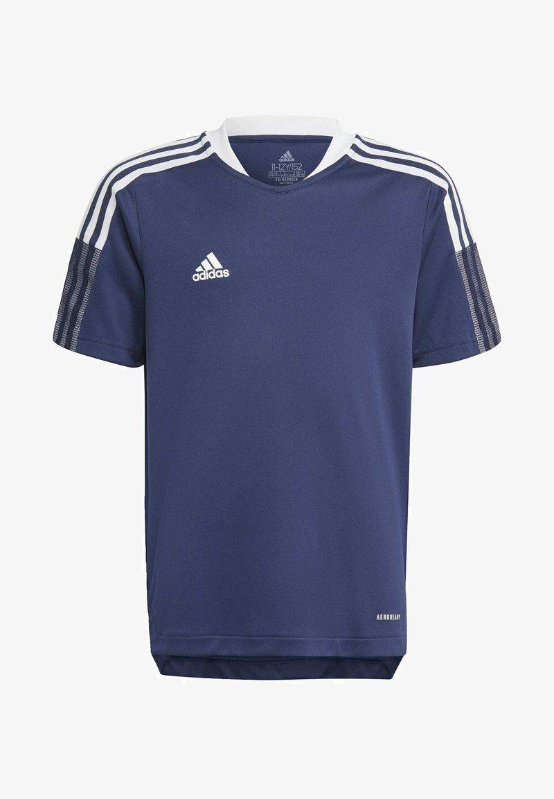 adidas Performance - TIRO 21 TRAINING JERSEY - Print T-shirt - blue