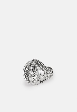 AARON SEAL RING UNISEX - Prsten - silver-coloured