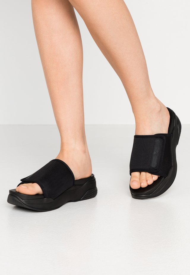 LORI - Heeled mules - black