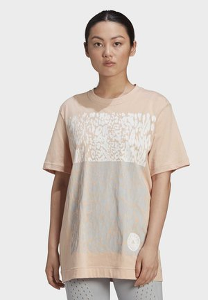 COTTON GRAPHIC T-SHIRT - Print T-shirt - beige