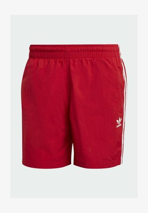 ADICOLOR CLASSICS 3-STRIPES SWIM SHORTS - Swimming shorts - red