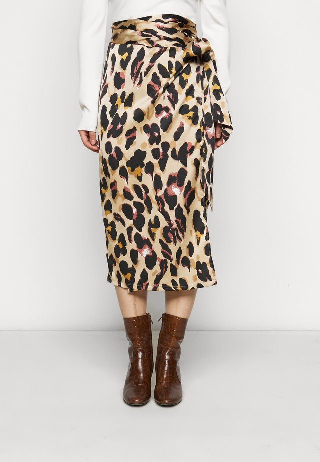LEOPARD JASPRE SKIRT - Pencil skirt - brown