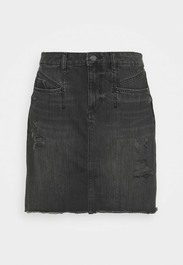 FESTIVAL SKIRT - Minigonna - black dark wash