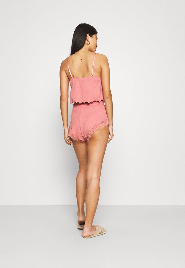 x NA-KD SHORT MIA - Pyžamový spodní díl - dusty pink