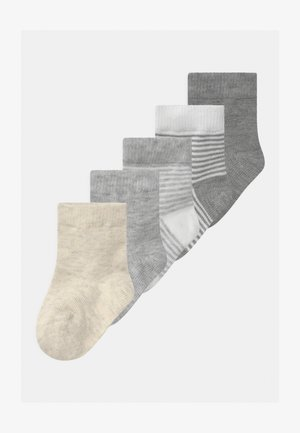 NBNRILANI 5 PACK UNISEX - Socks - light grey melange