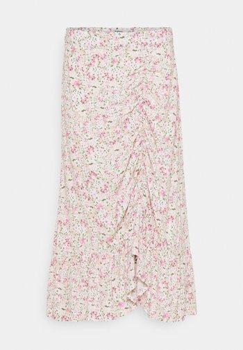 BYFLAMINIA SKIRT  - Maxi skirt - fuchsia pink mix
