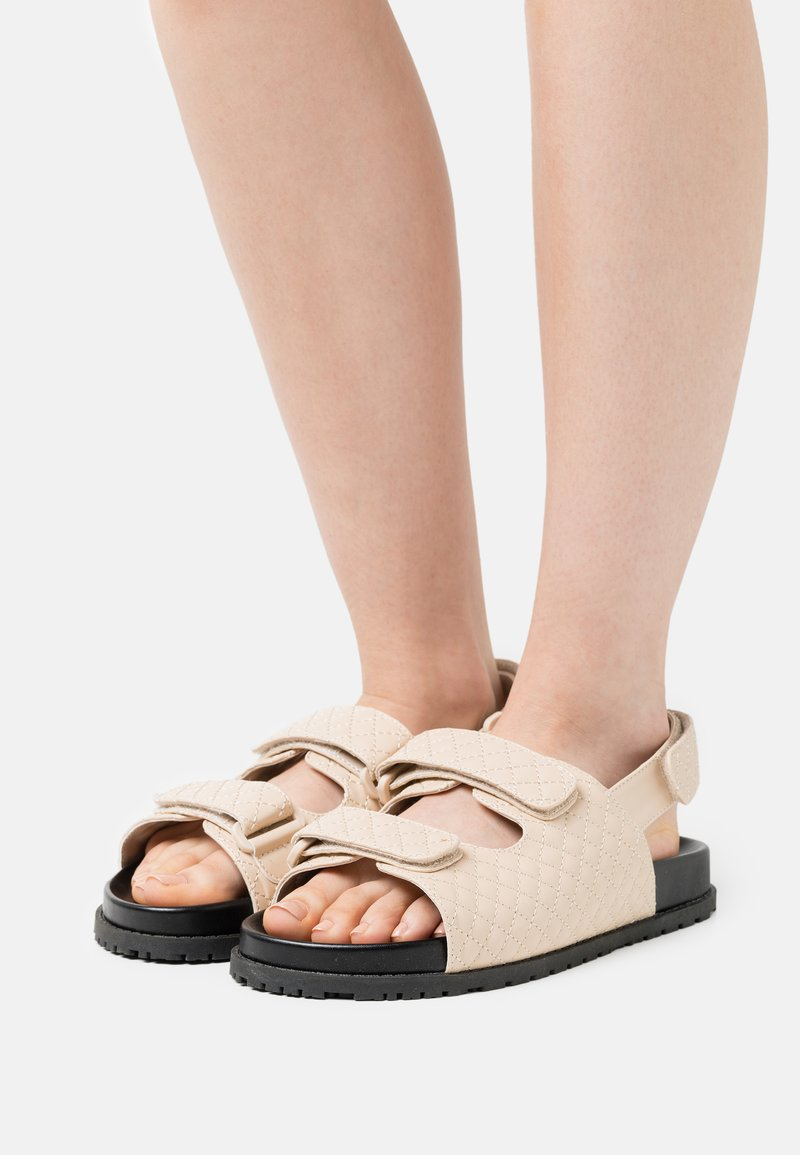 Nly by Nelly - QUILTED - Sandals - beige