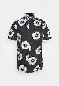 ANTON FLOWER SHIRT - Shirt - caviar