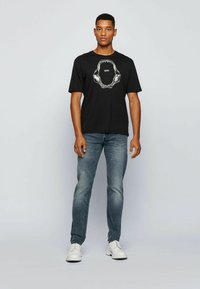 BOSS - TIMA - T-shirt med print - black - 1