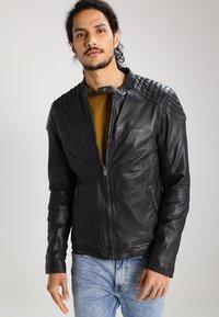 Goosecraft - Kožená bunda - black - 0