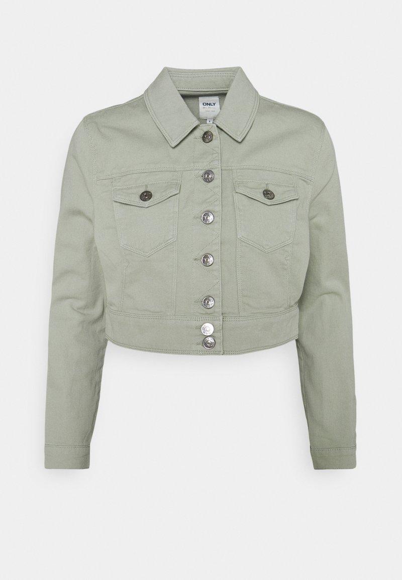 ONLY - ONLWESTA COLOR CROPPED JACKET - Denim jacket - desert sage
