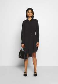 Sisley - DRESS - Shirt dress - black - 1