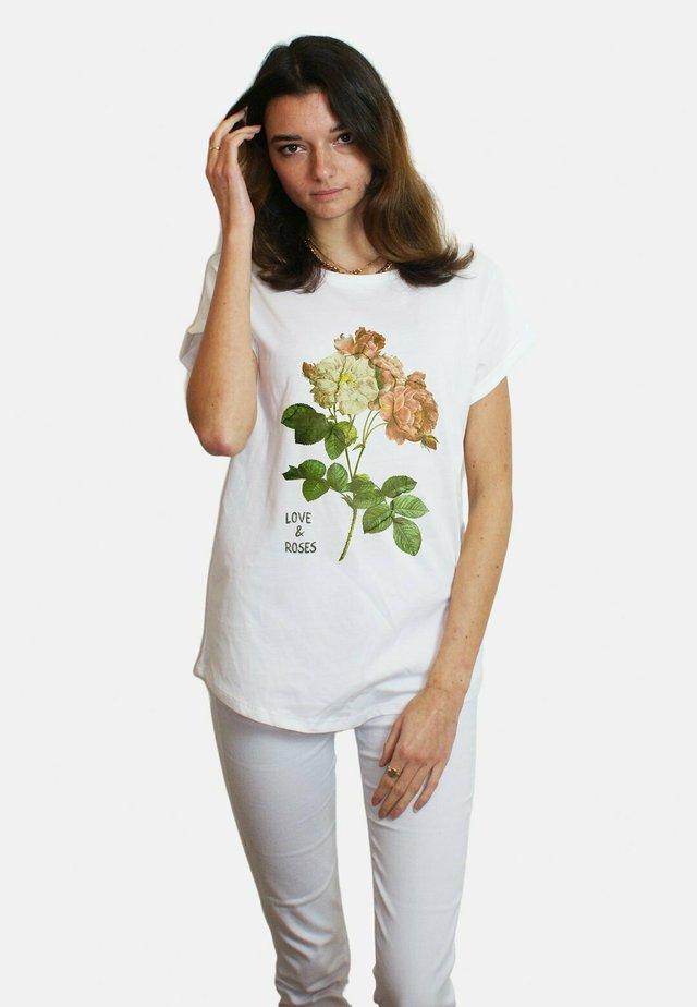 ROSES LARGE WTSRU - T-shirt print - white